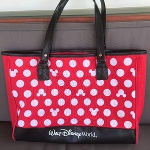 Walt Disney World Red Tote Mickey Dots